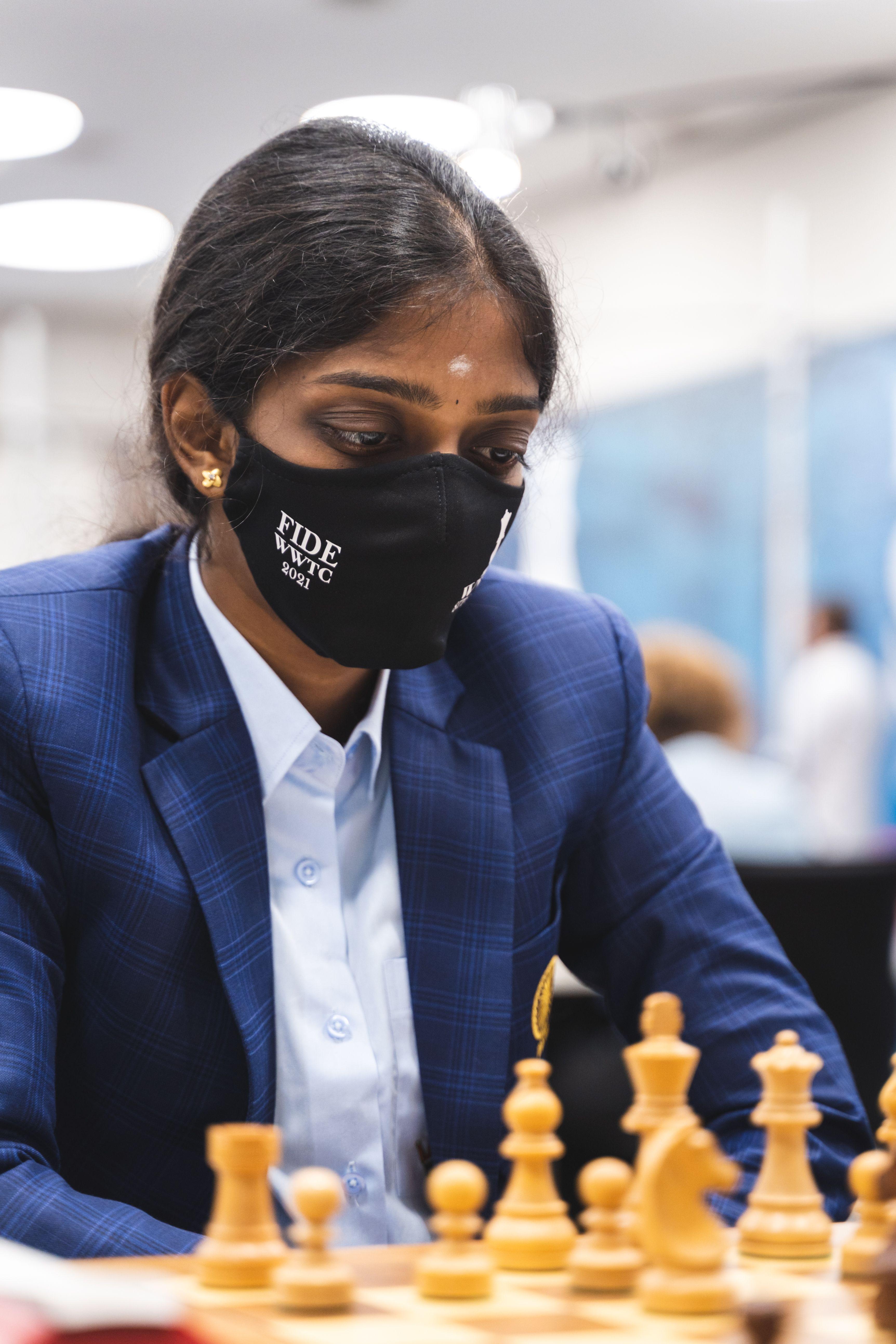 WGM Vaishali Rameshbabu of India at the Women's World Team Championship
