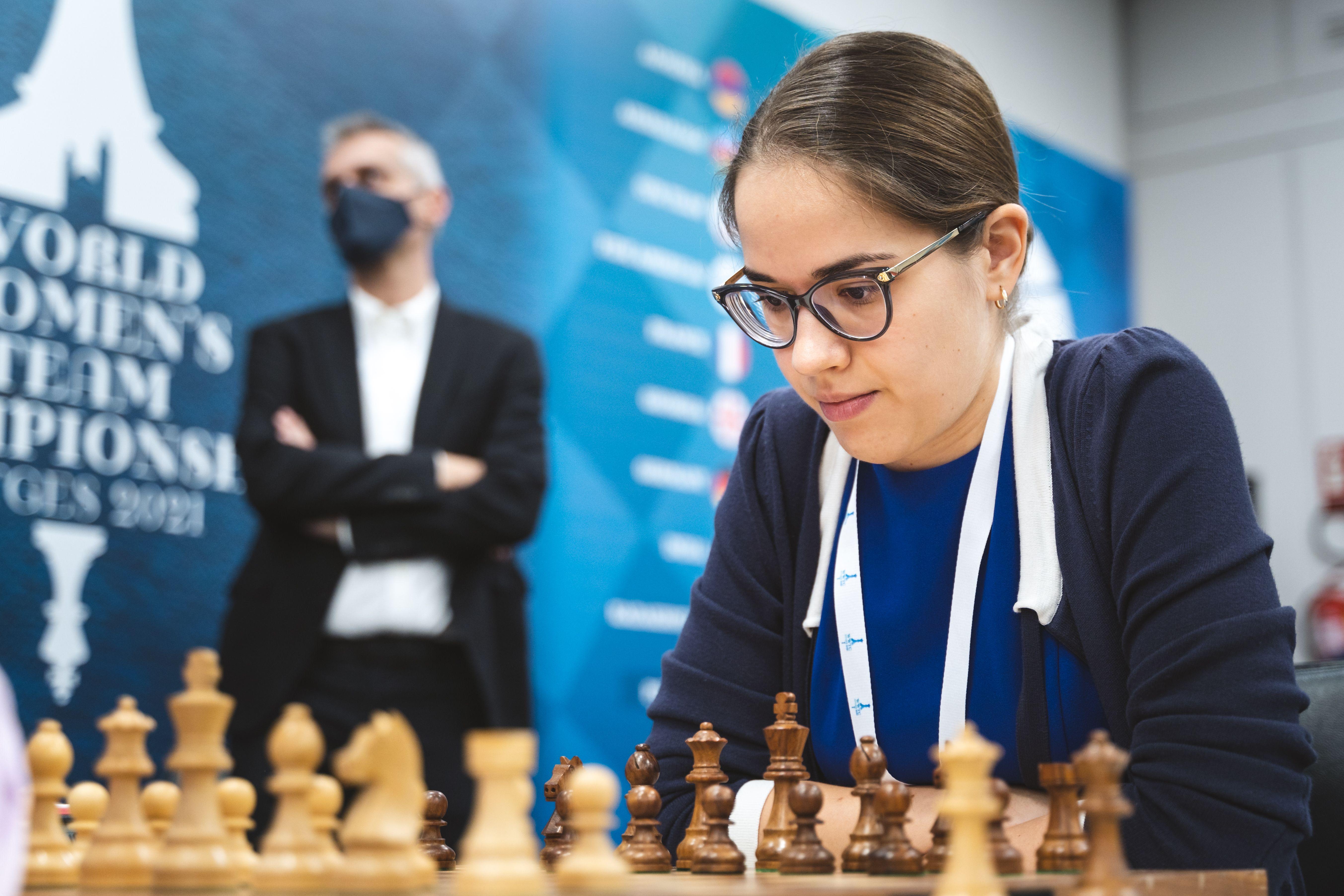 Российская IM Алина Кашлинская на чемпионате мира среди женщин