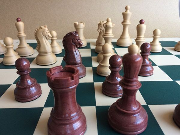 picture regarding Printable Chess Pieces called 3D published picket chess preset - Chess Boards -