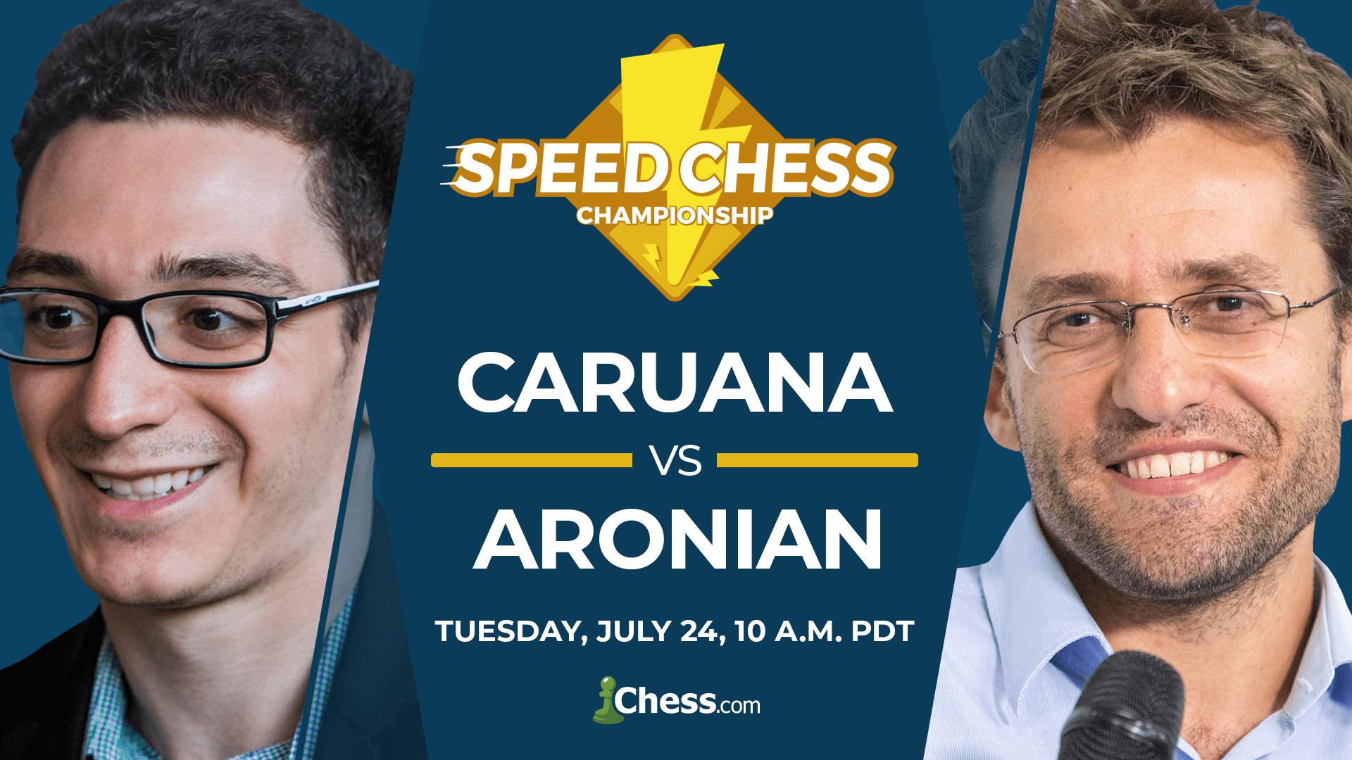 caruana vs aronian speed chess