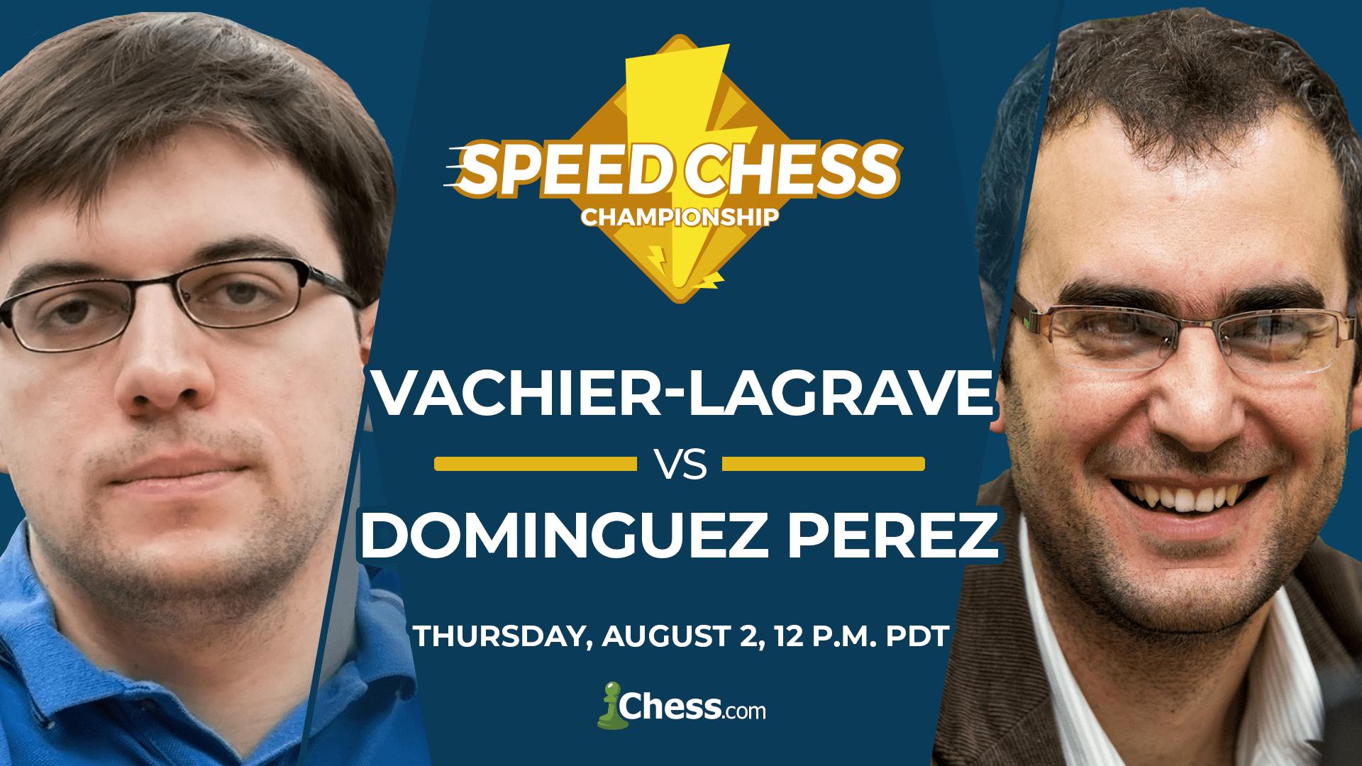 Maxime Vachier-Lagrave vs Leinier Dominguez Perez:Thursday, August 2, 12 p.m. PDT