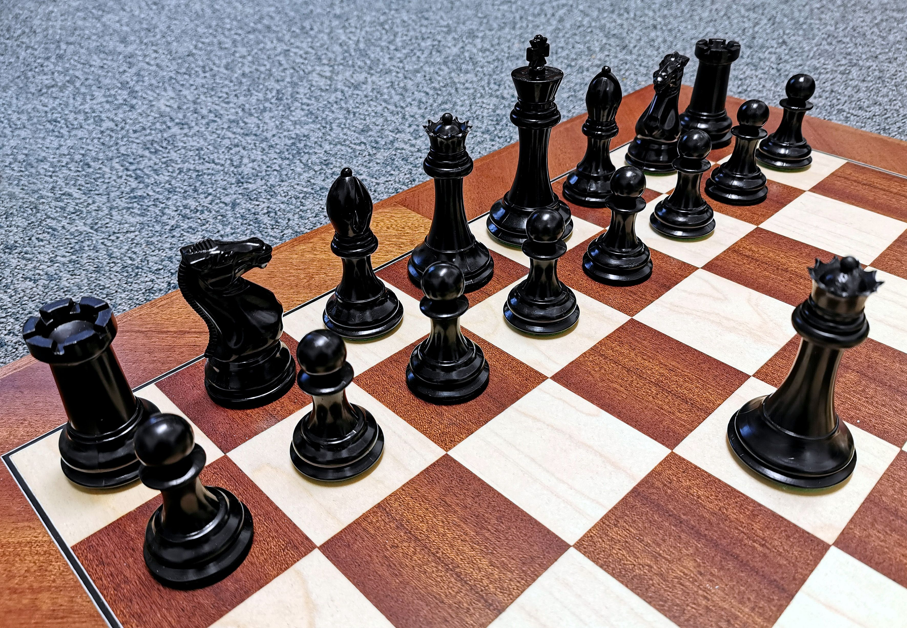 Green Wholesale Chess Triple Weighted Pieces and Mousepad Board Chess Set