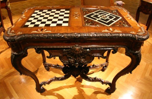 Good This Gaming Table With Chess Board And Chessmen Is In Immaculate Condition  And Has A Rich And Well Documented Lineage. It Was Constructed In Mainz,  Germany, ...
