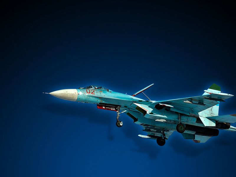 СУ-27 истребитель без смс