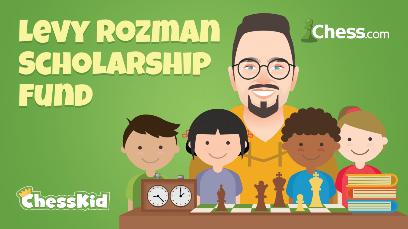 IM Levy Rozman Partners With ChessKid.com To Offer Chess Scholarship Fund