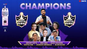 Pivotal Pawns Win 2021 Chess Super League