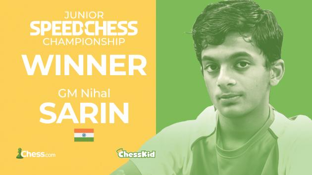 Sarin Beats Sadhwani, Retains Junior Speed Chess Championship Title