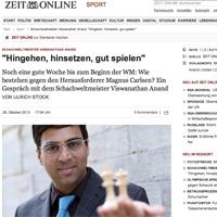 """Anand in Die Zeit: """"Go there, sit down, play well"""""""