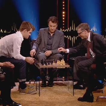 Magnus Carlsen Checkmates Bill Gates in 12 Seconds