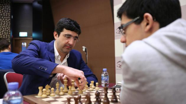 Kramnik Stops, Catches Giri in Qatar