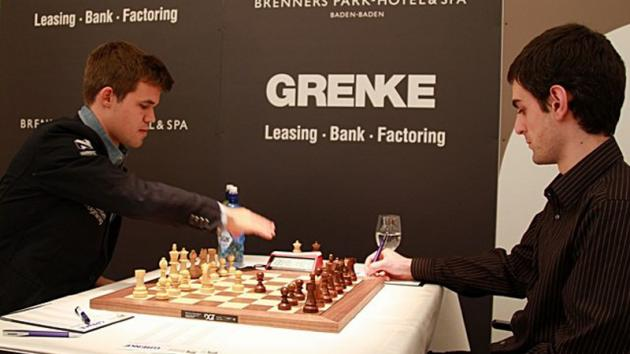 Grenke R5: Carlsen Catches Naiditsch, Anand Stumbles Again