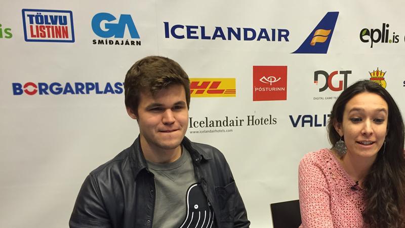 Magnus Carlsen Visits Reykjavik Where Mamedyarov, l'Ami and Fier Lead