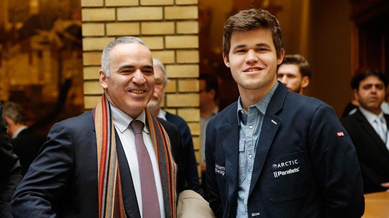 Carlsen, Kasparov Promote Chess In Schools At Norwegian Parliament