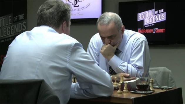 Rusty Garry Kasparov Leads 3.5-1.5 vs Bushed Nigel Short