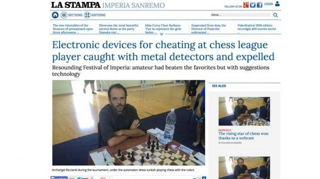 Italian Chess Player Suspected Of Cheating, Expelled From Tournament