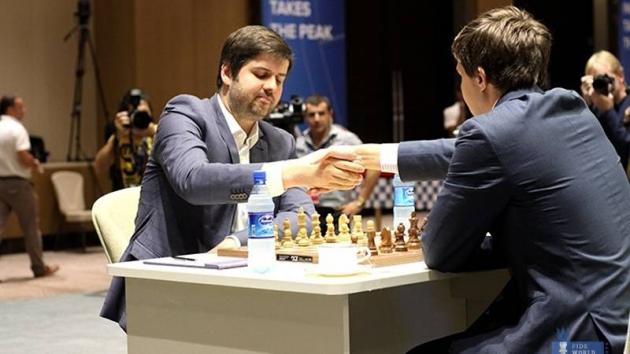 Svidler Wins 1st Game In World Cup Final