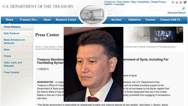 U.S. Sanctions Kirsan Ilyumzhinov For Supporting Syrian Government