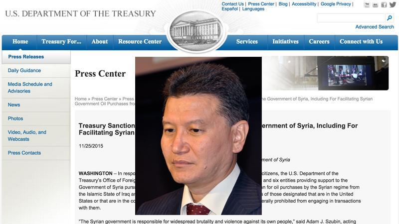 U.S. Sanctions Kirsan Ilyumzhinov For Supporting Syrian Government