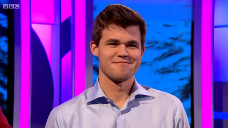 Magnus Carlsen In BBC's The One Show: Short But Sweet