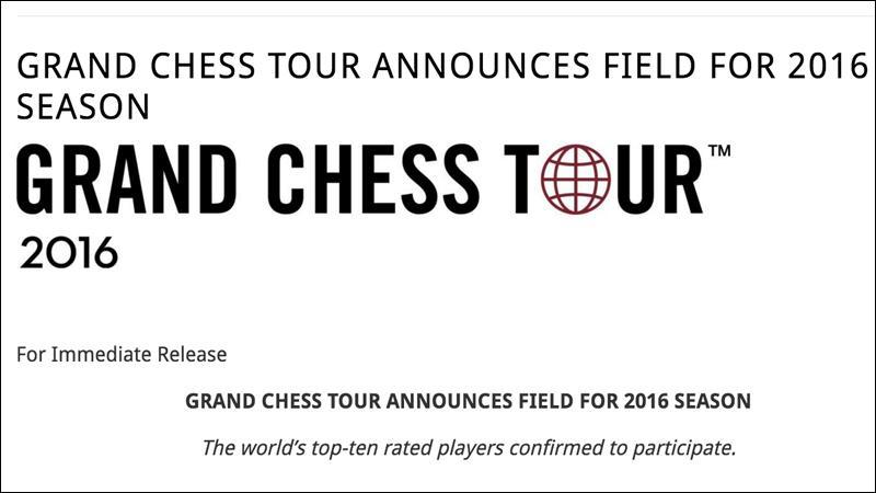 Grand Chess Tour Announces 2016 Participants