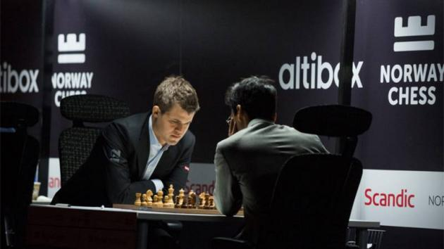 Wins For Carlsen, Giri, Kramnik In Norway Chess Round 1
