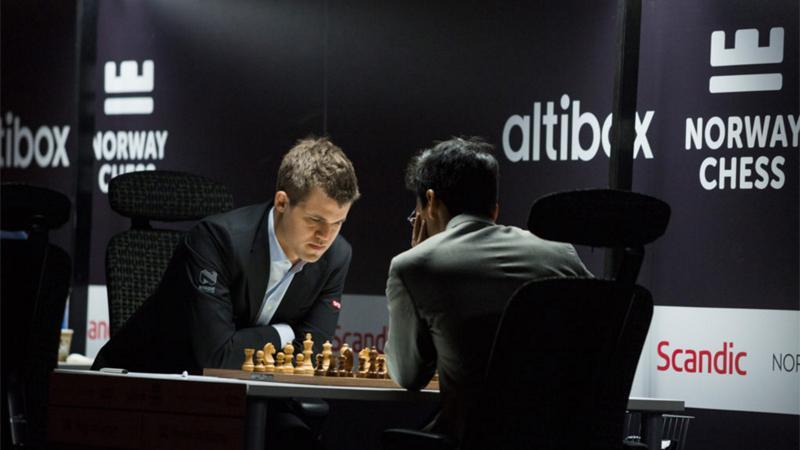 Wins For Carlsen, Giri, Kramnik In Norway Chess Round 1