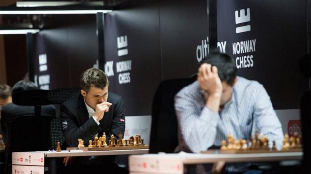 "Carlsen Beats ""Original"" Grandelius, Takes Sole Lead In Stavanger"