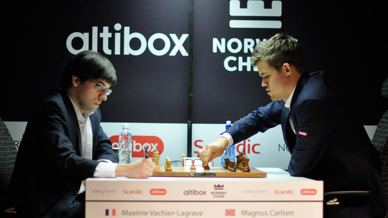 Carlsen Holds Berlin Ending vs MVL, Maintains Lead In Stavanger