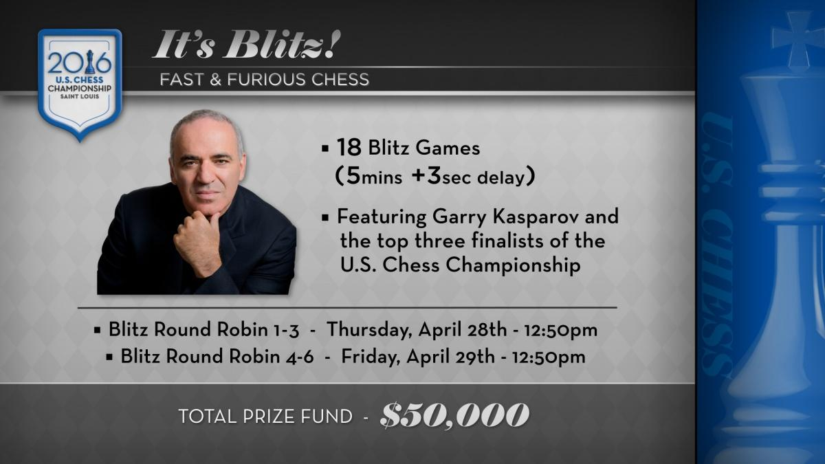 Kasparov To Face Caruana, Nakamura, So In Ultimate Blitz Challenge
