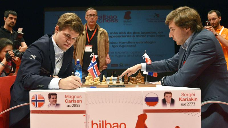 Carlsen Beats Karjakin, Surges To Clear 1st In Bilbao