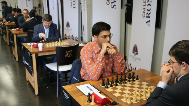 Anand Ends Vachier-Lagrave's Streak, Leads Sinquefield With Three Others