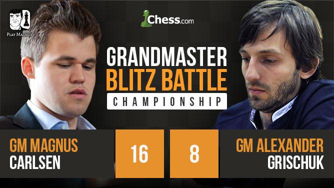 Carlsen Doubles Down vs Grischuk, Wins Blitz Battle 16-8