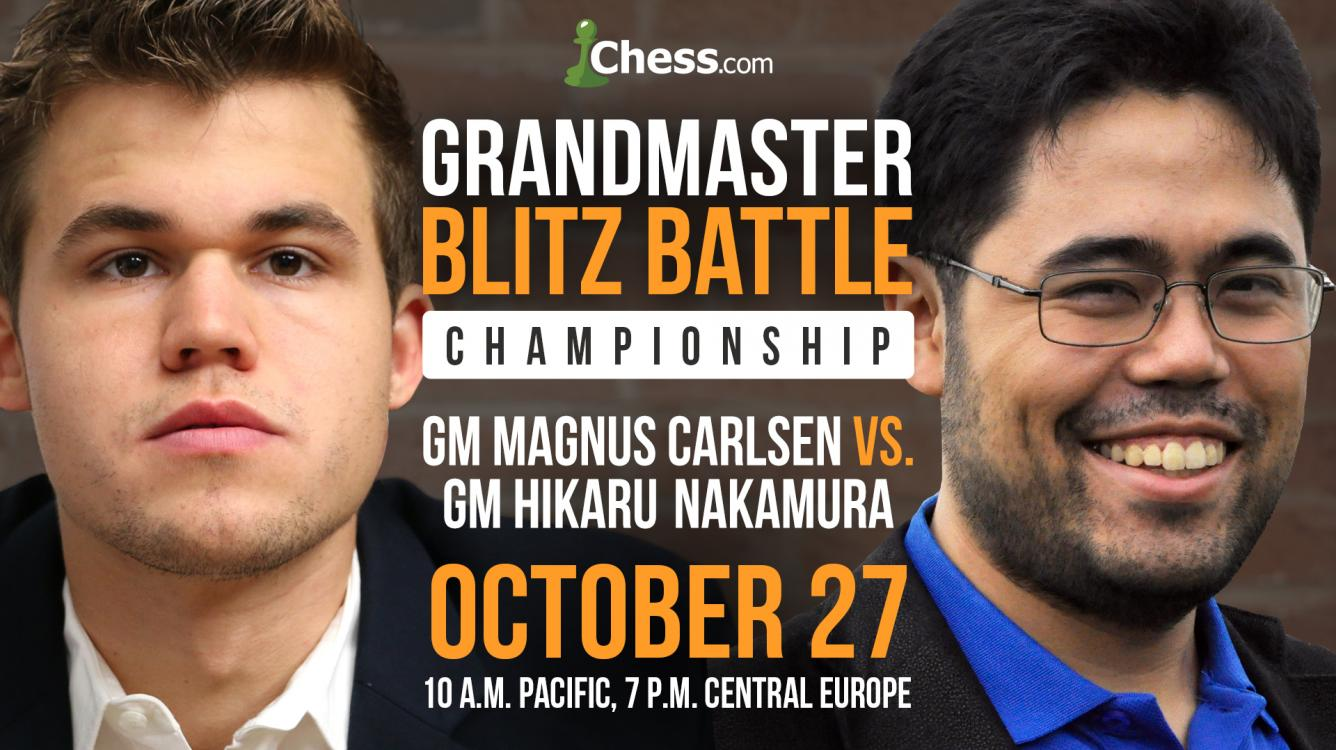 Carlsen-Nakamura Championship Set For October 27