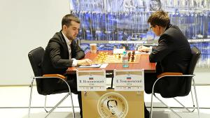 Nepomniachtchi Still Hot; Grabs 1st Round Lead In Tal Memorial's Thumbnail
