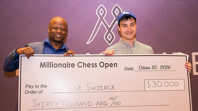 GM Dariusz Swiercz Wins 3rd Millionaire Open