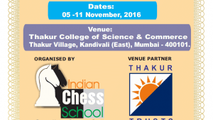 SBI Life 5th NATIONAL AMATEUR CHESS CHAMPIONSHIP 2016's Thumbnail