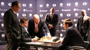 Carlsen Presses But Karjakin Holds In World Champs 1st Round Draw's Thumbnail