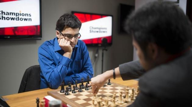 Anand Snags Lead On Champions Showdown Day 2