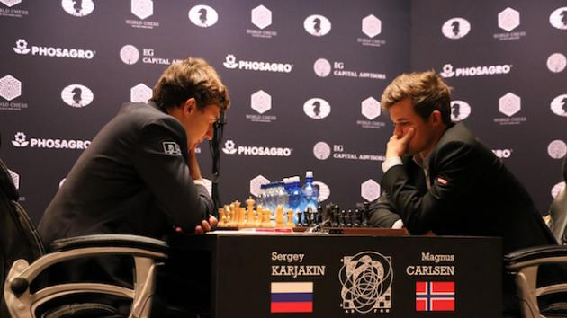 Carlsen Draws World Champs Game 4 In 'Weak Moment'
