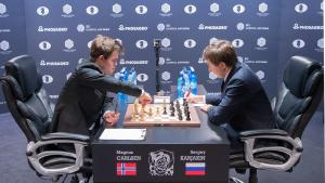 Carlsen Wins Marathon Game To Even Match With Karjakin's Thumbnail