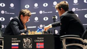 Karjakin Unmoved By Surprising Pawn Sacrifice, Holds Game 11's Thumbnail