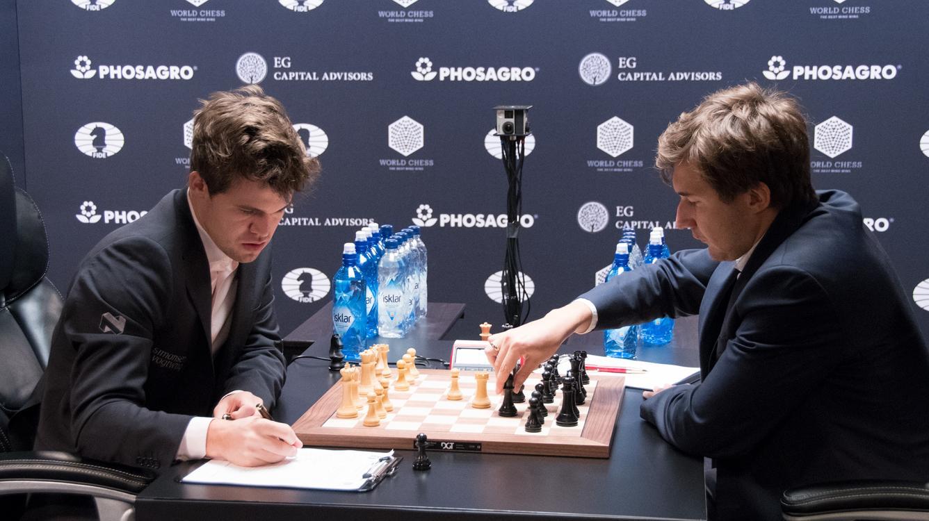 Carlsen, Karjakin Draw Game 12; Playoffs Wednesday