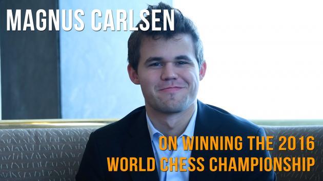 "Magnus Carlsen: ""I was calm, I was confident"""