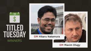Nakamura, Dlugy Top Titled Tuesday