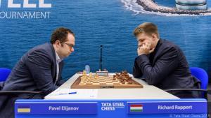 Miniatura de Tata Steel R1: Eljanov gana y lidera en solitario