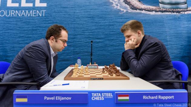 Tata Steel R1: Eljanov gana y lidera en solitario