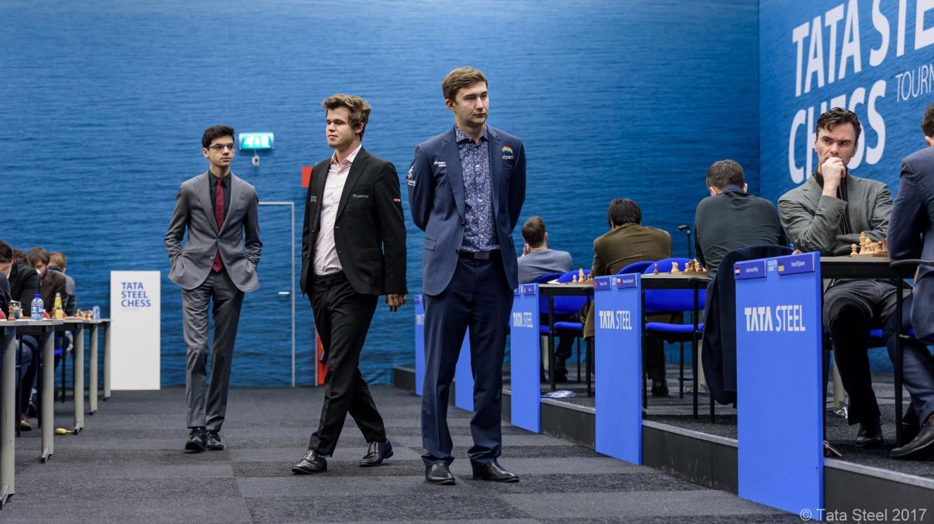 Inspired By Karjakin, Carlsen Gets 1st Tata Steel Win