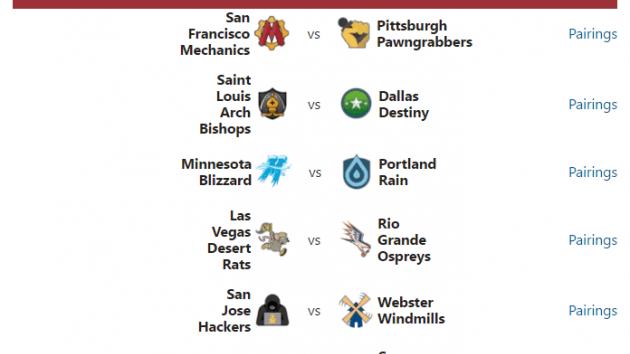 PRO Chess League: Week 1 Pairings