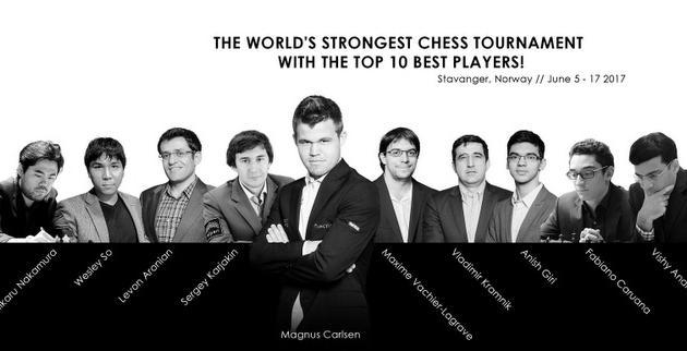 El top-10 mundial jugará en el Norway Chess 2017