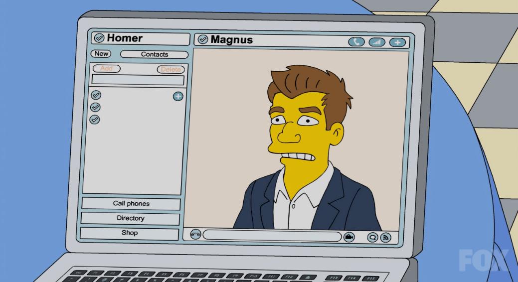 Magnus Carlsen Mentors Homer Simpson
